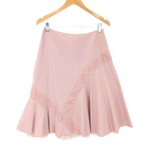 Anthropologie Odille Skirt Womens 4 Pink